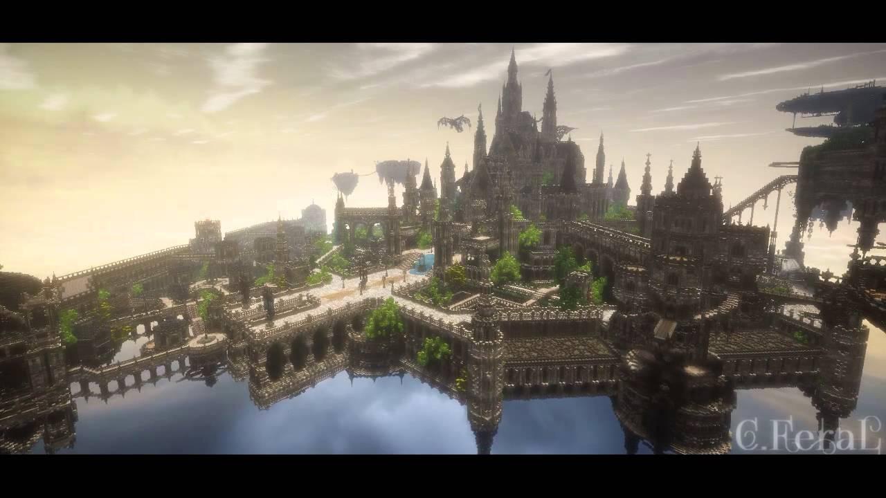 マインクラフト動画、こんな綺麗な世界に行って見たい