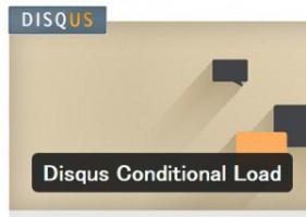 Disqus Conditional Load