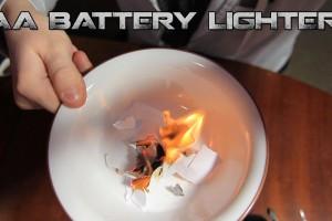 乾電池とガムの包み紙で火を起こす「How to動画」